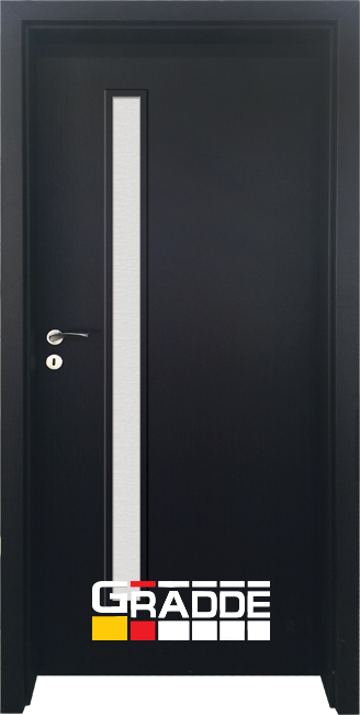 Интериорна HDF врата, модел Gradde Wartburg, Орех Рибейра