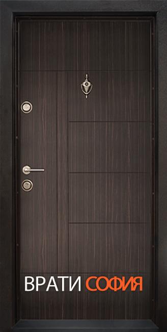 Блиндирана входна врата, модел Т587 Абанос