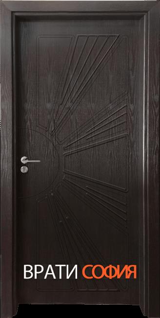 Интериорна врата Гама 204p, цвят Венге