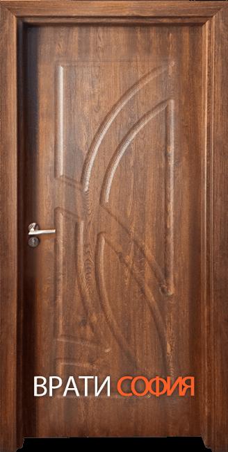 Интериорна врата Гама 208p, цвят Златен дъб