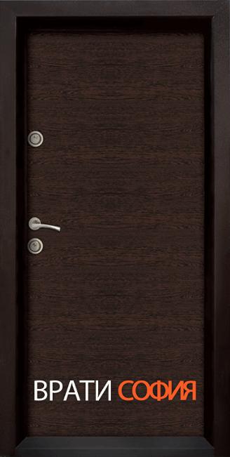 Блиндирана входна врата Ale Door 403, цвят Wenge
